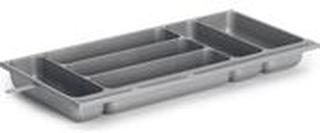 BESTICKLÅDA 6-FACK N.PLAST SMAL SILV 470X230X50MM