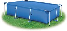 vidaXL Bassengtrekk blå 600x300 cm PE
