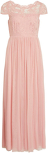 VILA Lace Maxi Dress Women Pink
