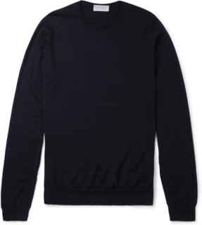Norland Cashmere And Silk-blend Sweater - Navy