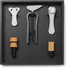 Wine Tool Set And Rack - Black