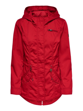 ONLY Seasonal Parka Coat Women Red
