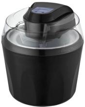 Guzzanti GZ-157, Gelkapsel-glassmaskin, 1,5 l, 2 hoar, LCD, Svart, Transparent, 204 mm