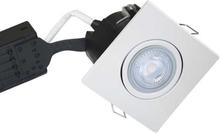 Nordtronic Uni Install 63 Firkantet Indbygningsspot 5W/830 LED GU10, Hvid