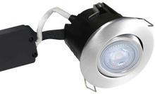 Nordtronic Master Uni Install 63 Rund Indbygningsspot med indbygget dæmper 5W/830 LED GU10, Børstet stål