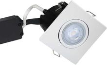 Nordtronic Master Uni Install 63 Firkantet Indbygningsspot med indbygget dæmper 5W/830 LED GU10, Hvid