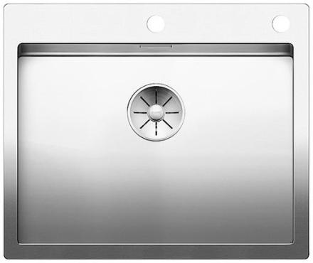 Blanco Claron 550-IF/A MXI Køkkenvask 61x51 cm m/PushControl & InFino kurveventil, Rustfrit stål