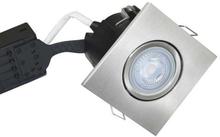 Nordtronic Uni Install 63 Firkantet Indbygningsspot 5W/827 LED GU10, Børstet stål