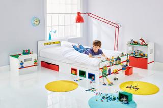 Brick barneseng – LEGO kompatibel med nattbord