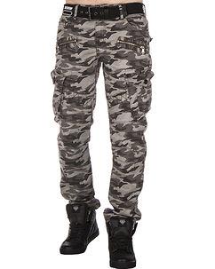 CD336 Cargo Pants Grey Camo