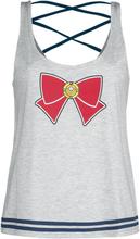 Sailor Moon - Schleife -Topp - lysegrå melert