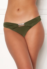 Goddiva Resort Halterneck Bikini Bottom khaki XS