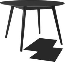 Clark - Esstisch ausziehbar, Rund, Schwarz, 120/160/200 cm