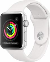 Apple Watch Series 3 (3. Gen. 2017) 42mm Silver Aluminum Sport Band Hvid