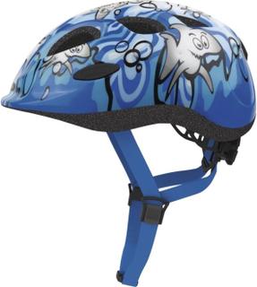 Cykelhjälm för barn ABUS SMILEY med grönt spänne - Sharky-Blå 68932dd88f7e3