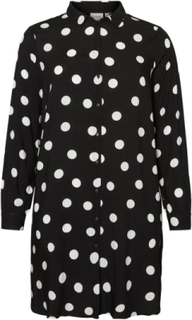 JUNAROSE Lang Prikkete Skjorte Women Black