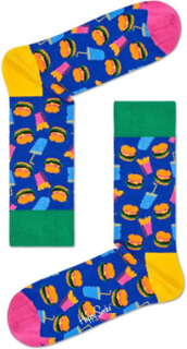 Happy Socks Hamburger Sock Blue Pattern