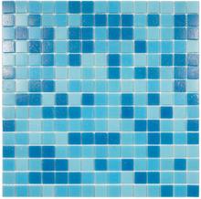 Nordic Kakel Mosaik Pool 32,7X32,7-Blå Mix