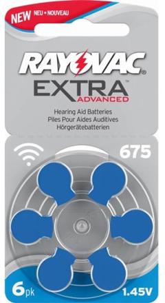 Rayovac Extra Advanced 675 Blå 6st