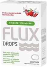 Flux Drops Rabarber & Jordgubb 30 st