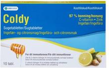 Orifarm;Coldy Coldy Sugtabletter Ingefära & Citron 10 st