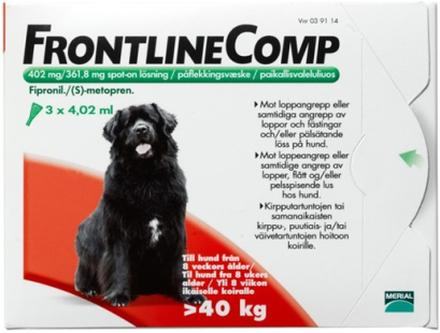 Frontline Comp, spot-on, lösning 402 mg/361,8 mg 3 x 4,02 ml