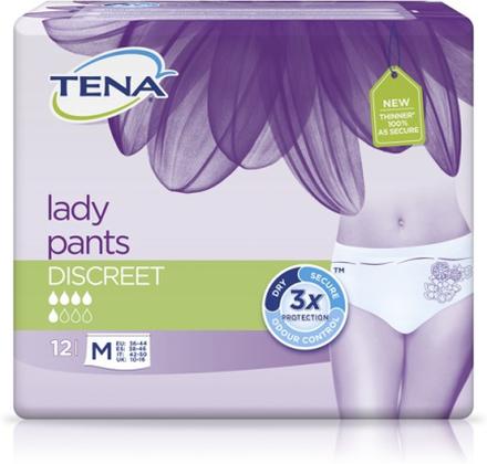 Tena Lady Pants Discreet Medium 12 st