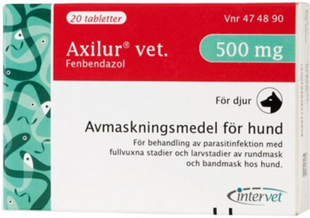 Axilur vet. tablett 500 mg 2 x 10 st