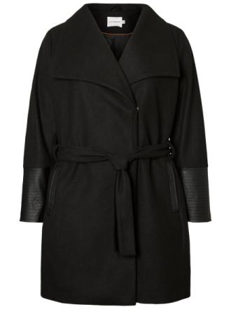 JUNAROSE Long Jacket Women Black
