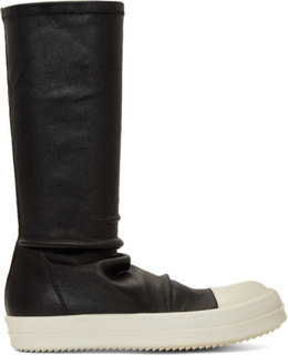 Rick Owens Black and White Sock Sneakers