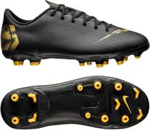 wholesale dealer 17303 f838b Nike Mercurial Vapor 12 Academy MG Black Lux - Svart Guld Barn