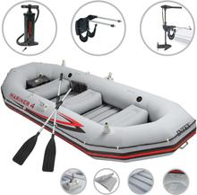 vidaXL Intex Uppblåsbar båt Mariner 4 med båtmotor och fäste