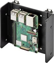 Renkforce DIN-Rail-holder Passer til: Raspberry Pi, Arduino, Banana Pi til hatskinnemontering Sort