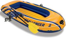 Intex Challenger 2 gummibåd med årer og pumpe, 68367NP