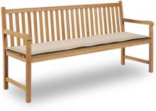 vidaXL Bänkdyna för trädgården 180x50x3 cm gräddvit