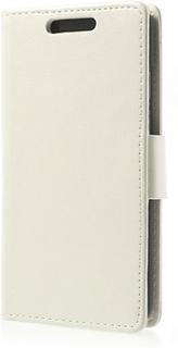 Lychee plånboksfodral till htc desire 601 - htc zara (vit)
