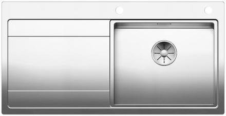 Blanco Divon II 5S-IF højre MXI Køkkenvask 100x51 cm m/InFino kurveventil, Rustfrit stål