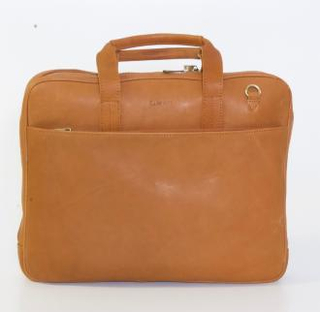 Bon Gout Computer Bag Columbia Cognac