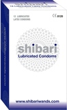 Shibari: Lubricated Latex Condoms, 12-pack