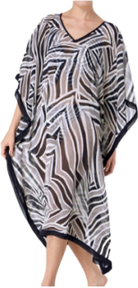 Palm Elegance Kaftan Black pattern-2
