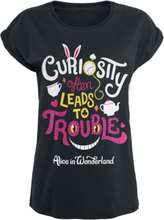 Alice in Wonderland - Trouble -T-skjorte - svart