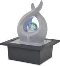 vidaXL Inomhusfontän med LED polyresin