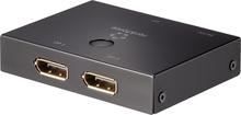 Renkforce 2 Port DisplayPort-switch dubbelriktad 3840 x 2160 pixel