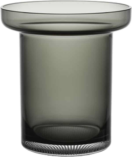 Kosta Boda Limelight Røykgrå vase 19,5 cm