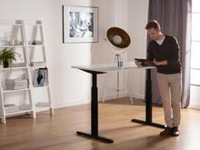 Skrivebord 160x80 cm Elektrisk Justerbar Sort/Hvid Uplift