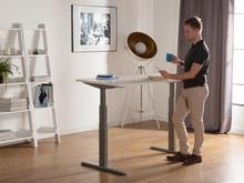 Skrivebord 180x80 cm Elektrisk Justerbar Hvid/Grå Uplift
