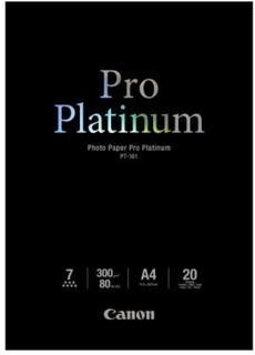 Canon Papper Canon Photo Paper Pro Platinum PT-101, A4, 20 Ark