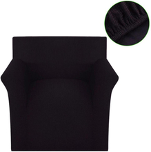 vidaXL Sofföverdrag ribbstickad polyester stretch brun