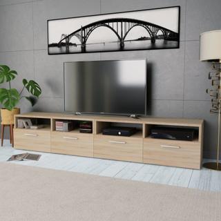 vidaXL TV-benk 2 stk sponplater 95x35x36 cm eik