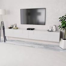 vidaXL TV-benk 2 stk sponplater 120x40x34 cm hvit høyglans